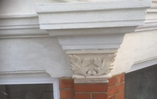 Restoration to ornate features of stone work