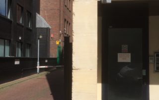 Ashlar block replacement to stone pillar
