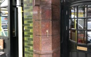 Clean polish and revamp Victorian marble columns, London Before and after